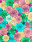 Colorful Pinwheel Wall For Wedding Photography  Backdrop J-0284