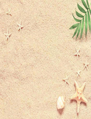 Conch Sea Star On Sandy Beach For Baby Photography Backdrop J-0209 - Shop Backdrop