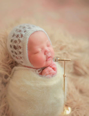Copper Saxophone Microphone Newborn Photo Prop - Shop Backdrop