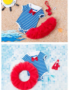Cotton Independence Day Baby Striped Romper Photo Props - Shop Backdrop