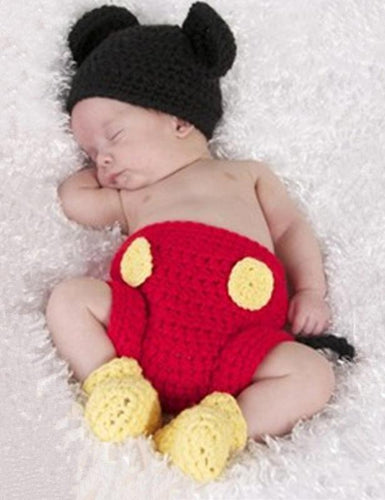Cotton Knitted Mickey Baby Photography Props(Multi-color Optional) - Shop Backdrop