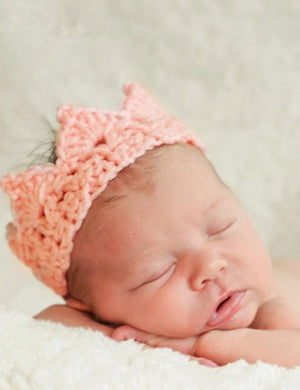 Cotton Pink/Deep Cyan Knit Crown Photography Props(Multi-color optional) - Shop Backdrop
