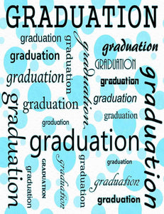 Custom Celebrate Graduation With Blue Polk Backdrop Photography - Shop Backdrop