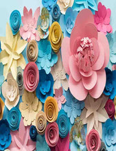 Custom Hand Made Colorful Paper Flower Photography Backdrop J-0167 - Shop Backdrop