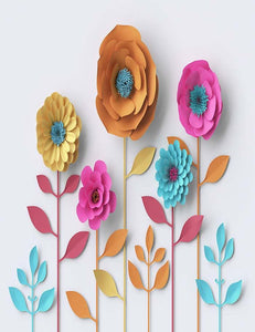 Custom Paper Flower Backdrop For Baby Pbotography J-0181 - Shop Backdrop