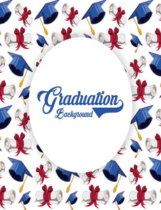 Custom Step And Repeat Bachelor Caps For Celebrate Graduation Backdrop - Shop Backdrop