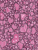 Custom Step And Repeat Hearts For Valentines Photography Backdrop J-0234