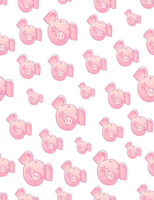 Custom Step And Repeat Pink Pigs Photography Backdrop  J-0142 - Shop Backdrop