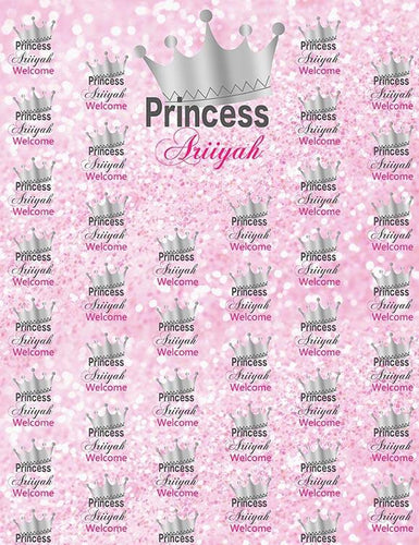 Custom Step And Repeat Princess Backdrop For Photography - Shop Backdrop