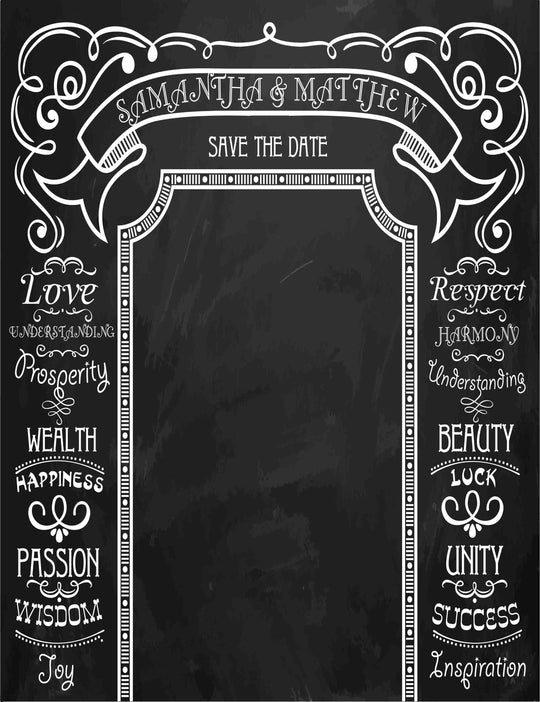 Custom Wedding Background Blackboard Backdrop For Photography