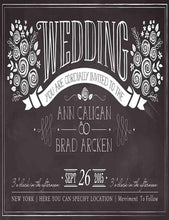 Custom Wedding Painted Chalkboard Photography Backdrop J-0059