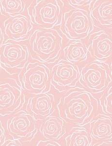Damask Painted White Rose On Pink Paper Wall Backdrop For Photography - Shop Backdrop