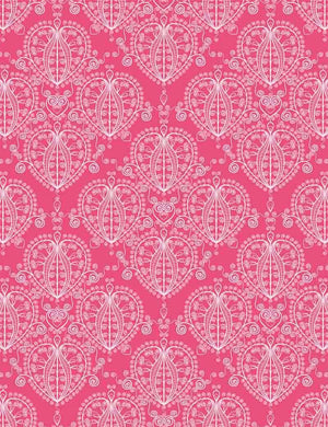 Damask Red Abstract Heart Flowers Painted Photography Backdrop - Shop Backdrop