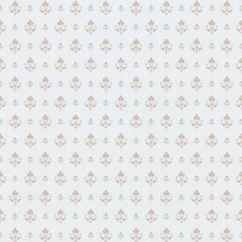 Damask Rosy Brown And Powder Blue Backdrop For Photography - Shop Backdrop