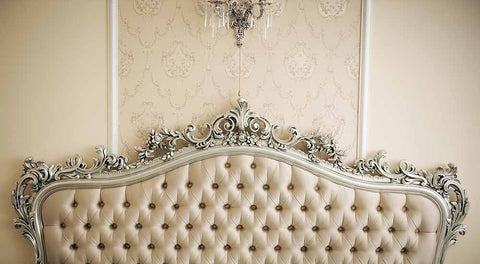 Damask Wall With Decorative Headboard Texture Backdrop For Photography J-0107