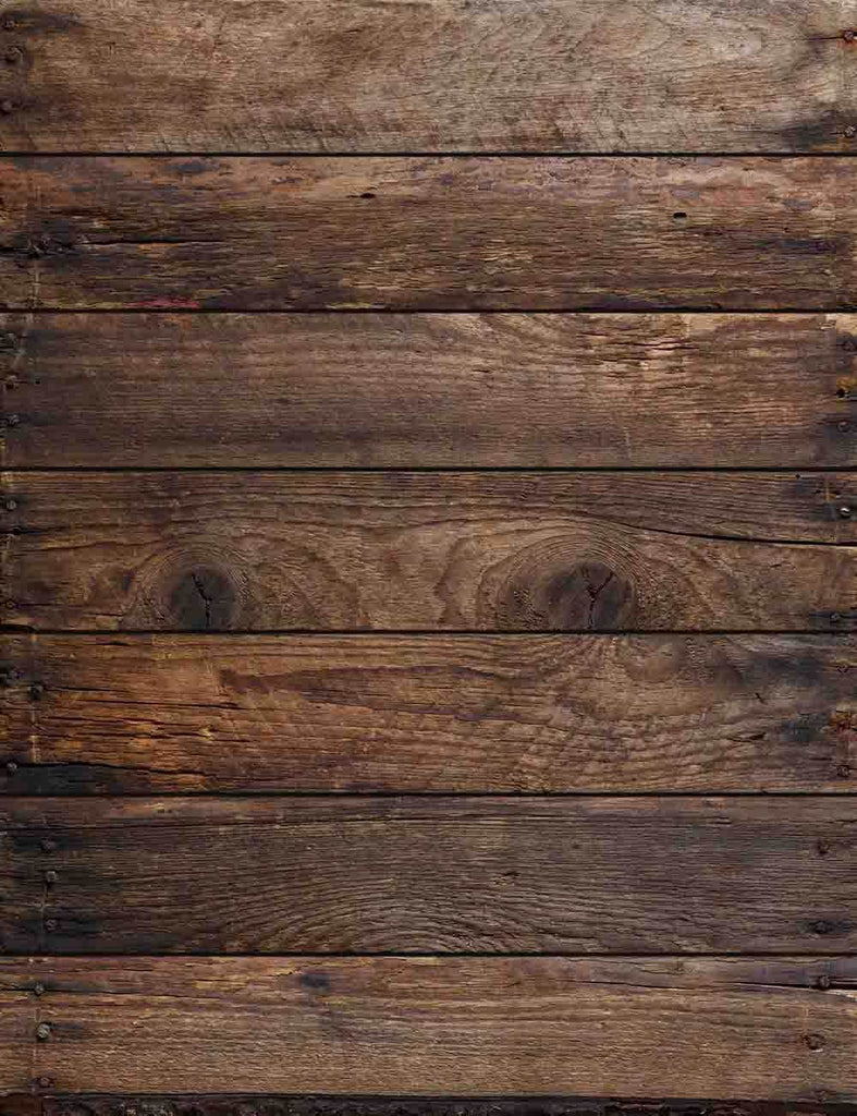 Dark Brown Wood Floor Texture For Baby Photo Backdrop