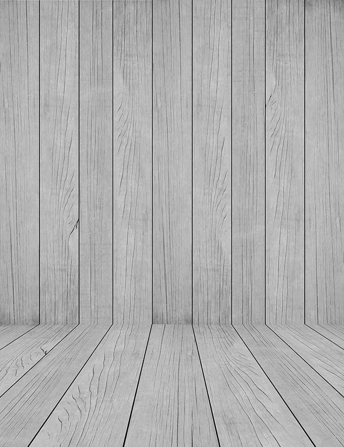 Dark Gray Wooden Floor Mat And Wall Photography Backdrop J-0079