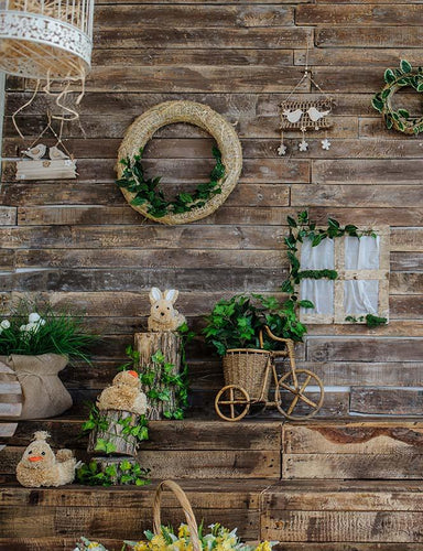 Decoration Wooded Wall With Stairs Photography Backdrop J-0790