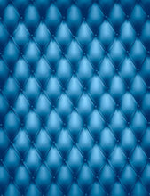 Deep Blue Tufted Leather Texture Backdrop For Photography J-0046