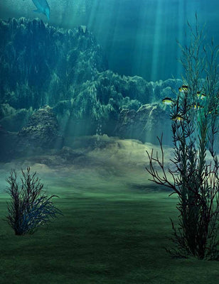 Deep In Oceans Depths Oasis For Children Photography Backdrop J-0361