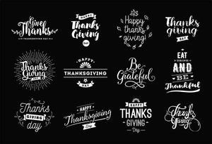 Different Fonts Thanksgiving Painted On Blackboard For Holiday Photography  Backdrop - Shop Backdrop
