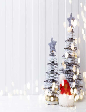 DIY Christmas Tree With White Wall For Holiday Photography Backdrop J-0203