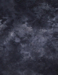 DM-135 Dark Slate Blue Handed Printed Muslin Photography Backdrop - Shop Backdrop