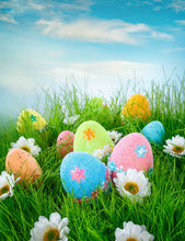 Easter Colorful Eggs In Grass Photography Backdrops - Shop Backdrop