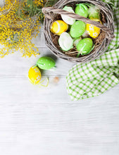 Easter Eggs And Flower On Wood Floor Photography Backdrop - Shop Backdrop