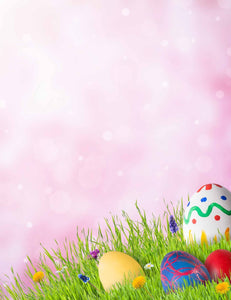 Easter Eggs On Grass With Bokeh Photography Backdrop - Shop Backdrop