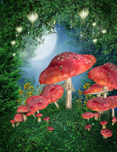 Fantastic Mushroom For Children Photography Backdrop J-0444