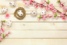 Flowers And Easter Eggs On The Wood Floor Backdrop For Baby Backdrop - Shop Backdrop