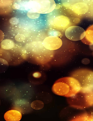 Golden Bokeh Sparkles Abstract Photography For Holiday Backdrop - Shop Backdrop