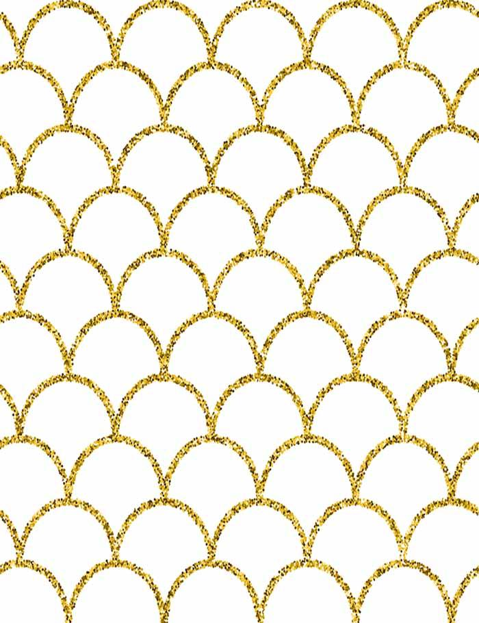 Golden Fish Sacle Texture Painted Photography Backdrop J-0375