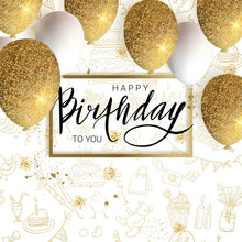 Golden Glitter Balloons Backdrop For Birthday Party Backdrop - Shop Backdrop