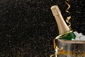 Golden Glitters With Champagne For Celebrate New Year Photography Backdrop J-0291