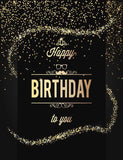 Golden Sparking Dots With Birthday For Children Photography Backdrop J-0102