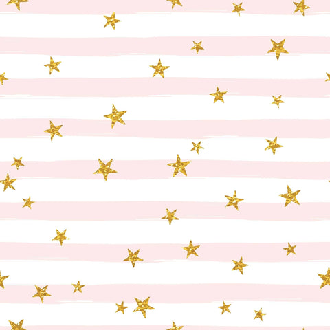 Golden Stars Printed Pinks Stripes Photography Backdrop - Shop Backdrop