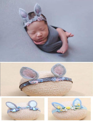 Gray Elf Ears Headband Newborn Photography Props - Shop Backdrop