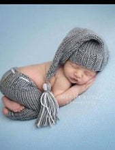 Gray Knitted Hat With Gray Wool Shorts Set Photo Props - Shop Backdrop