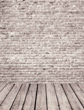 Gray Red Brick Wall Texture With Senior Wood Floor Backdrop For Photography - Shop Backdrop