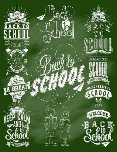 Green Chalkboard Painted Back To School For Children Photography Backdrop J-0060