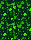 Green Clover Printed On Black Background For St Patrick's Day Backdrop