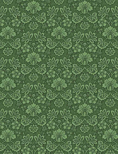 Green Damask Flower Printed Old Master Photography Backdrop - Shop Backdrop
