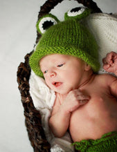 Green Frog Cotton Knit Photo Props For Newborn - Shop Backdrop