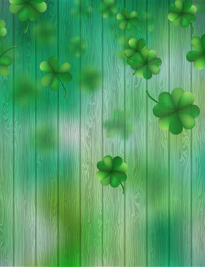 Green Wood Painting Clover Photography Backdrop - Shop Backdrop