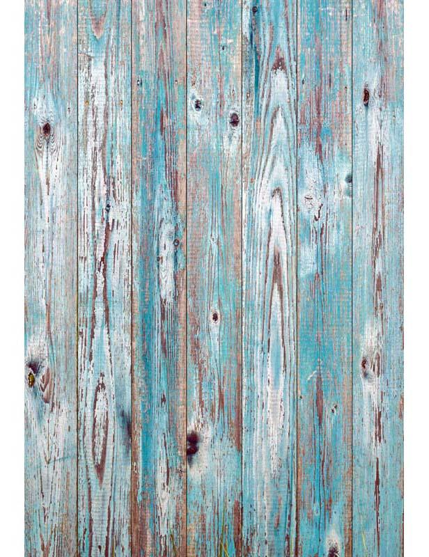 Grunge Baby Blue Paint Peeling Wood Floor Mat Texture Backdrop For Photography F-2750