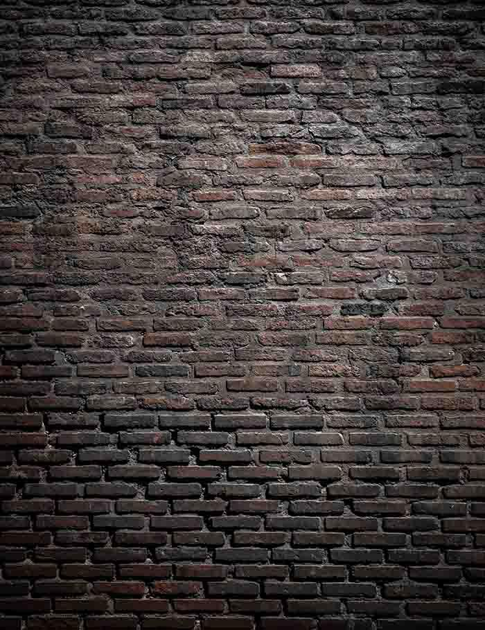 Grunge Dark Red Brick Texture Photography Backdrop J-0256