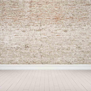 Grunge Old Brick Texture Wall With Floor Photography Backdrop J-0270