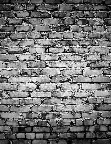 Grunge Old Gray Brick Texture Wall Photography Backdrop  J-0311